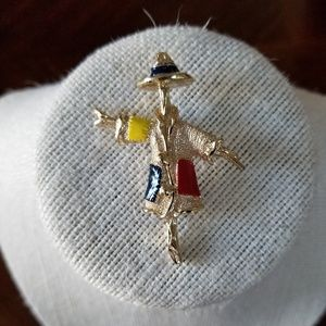 Sara Coventry Scarecrow Brooch Signed